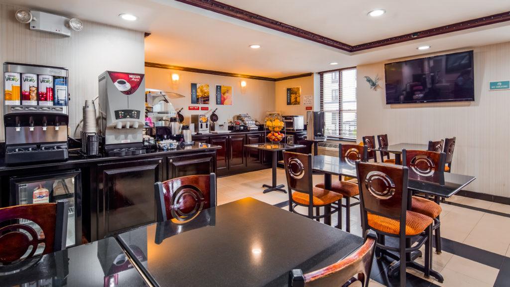 Best Western JFK Airport Hotel breakfast bar with seating