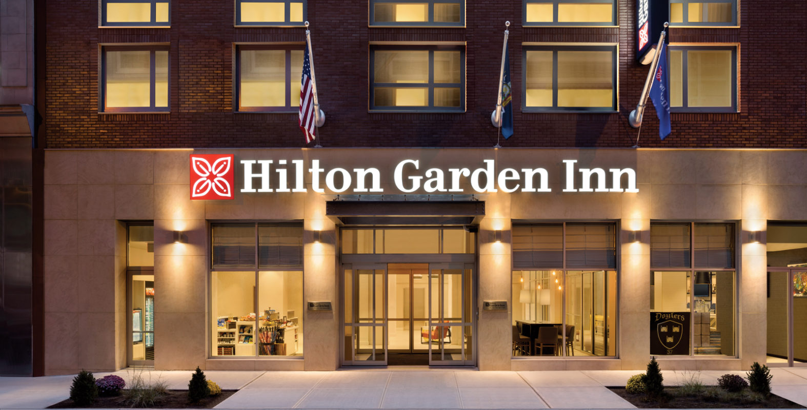 Hilton Garden Inn New York Times Square South front entrance