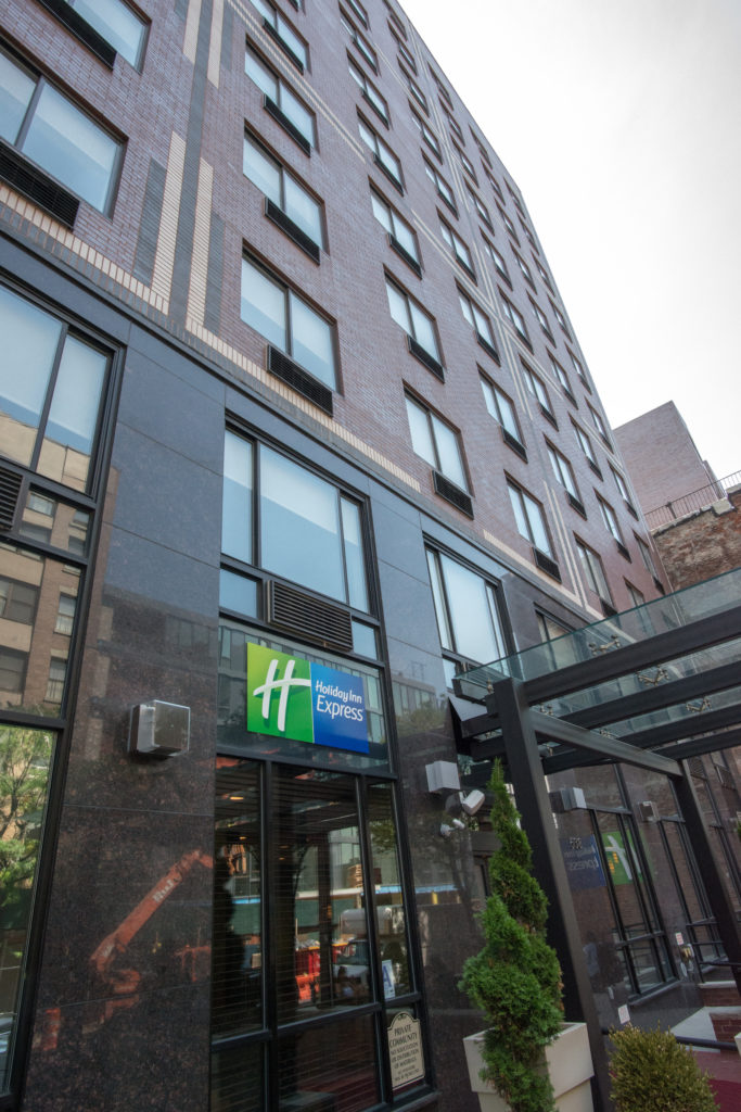 Holiday Inn Express Manhattan Midtown West exterior daytime