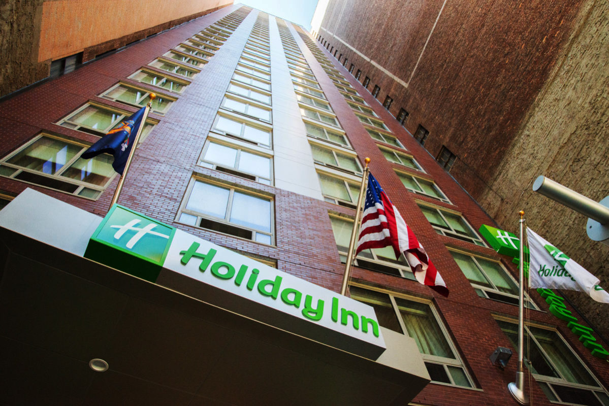 Holiday Inn New York City – Times Square exterior view to top of building