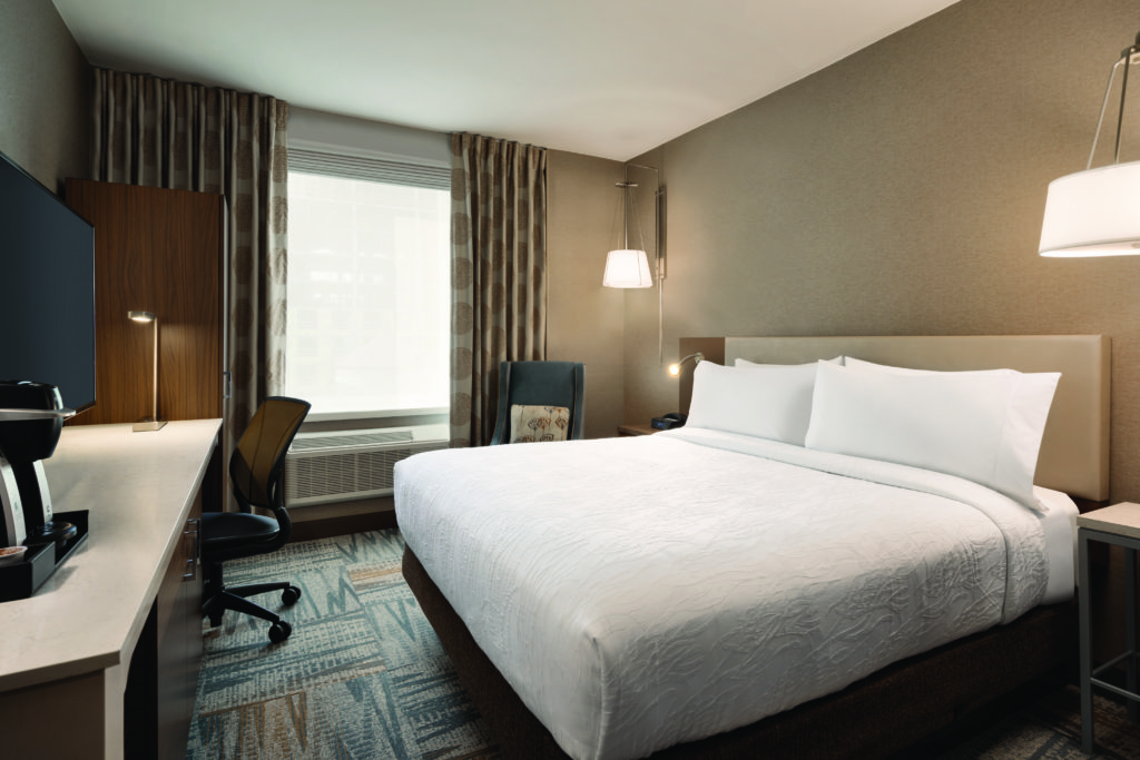 Hilton Garden Inn New York Times Square South king bed guest room