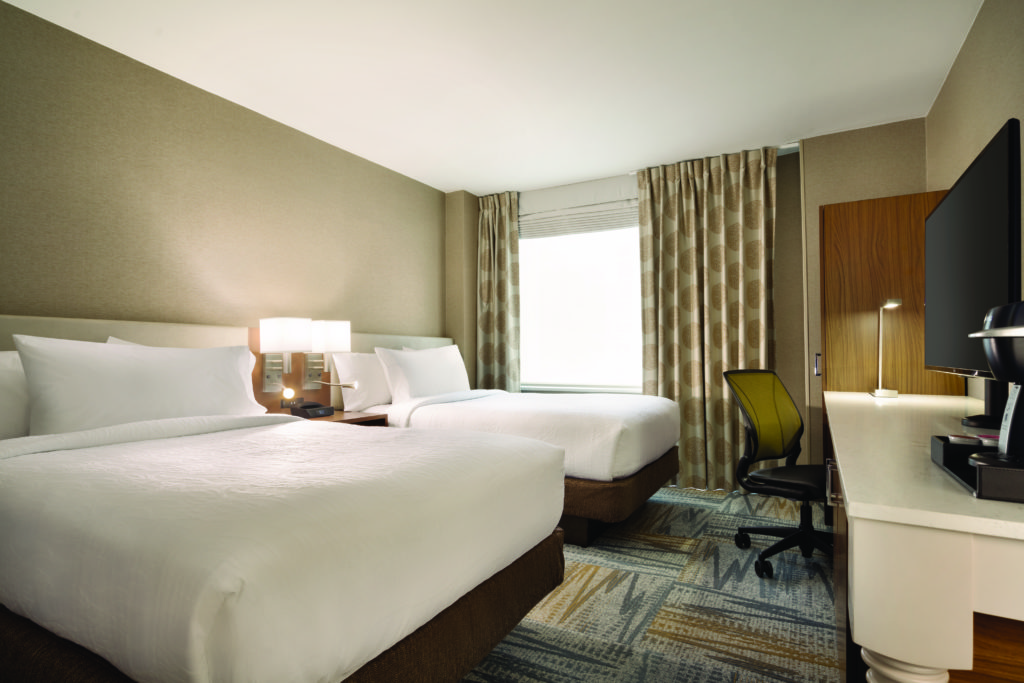 Hilton Garden Inn New York Times Square South double beds guest room