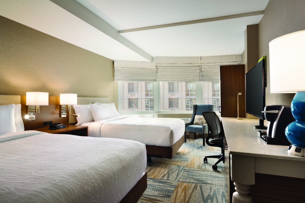 Hilton Garden Inn New York Times Square South double large window city view accessible guest room