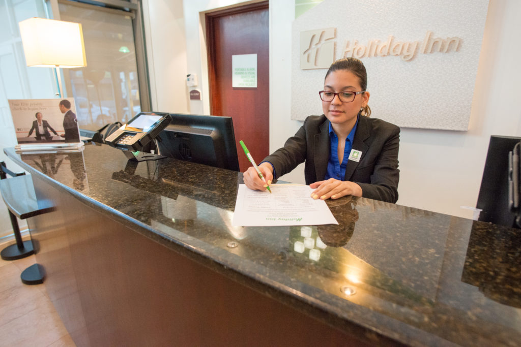 Holiday Inn L.I. City - Manhattan View front desk agent