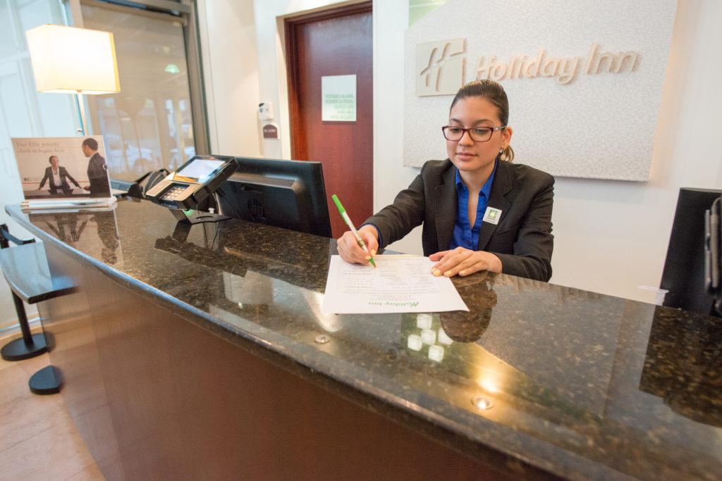 Holiday Inn L.I. City - Manhattan View front desk agent