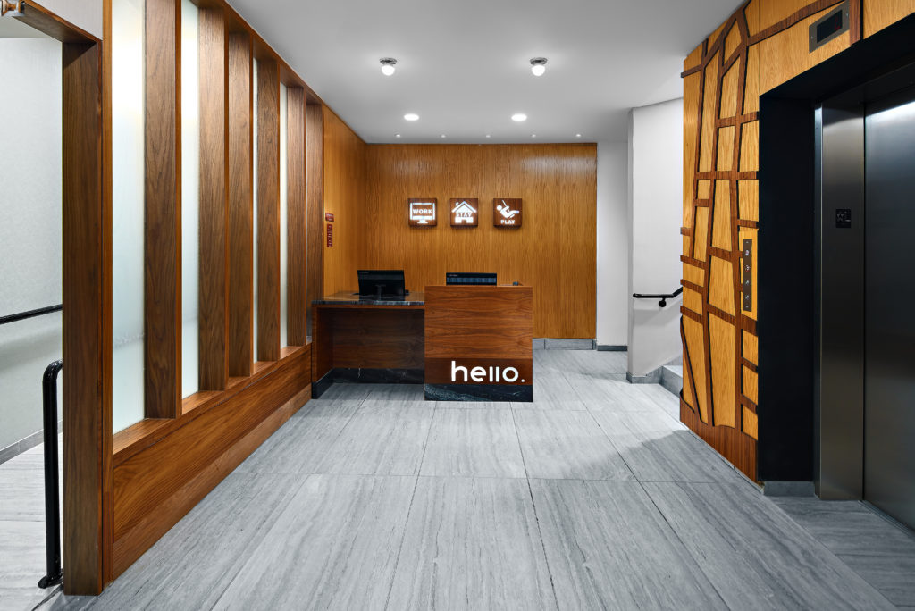 TownePlace Suites New York Manhattan/Times Square front desk lobby