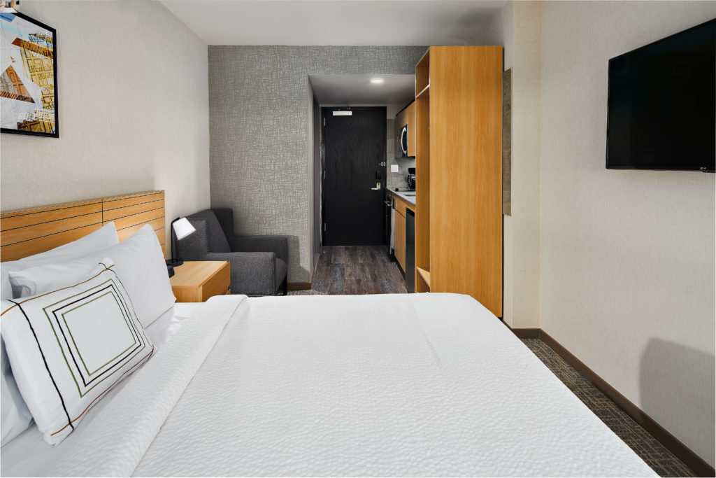 TownePlace Suites New York Manhattan/Times Square king guest room