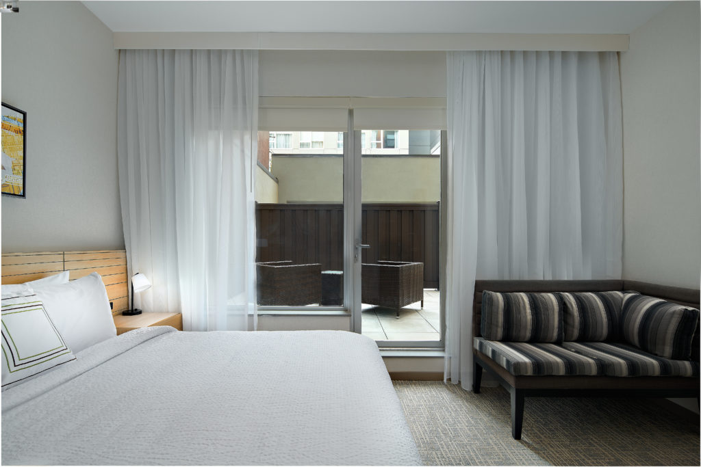 TownePlace Suites New York Manhattan/Times Square king guest room with courtyard view
