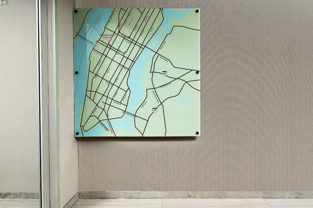 TownPlaceSuites New York Manhattan Times Square lobby map